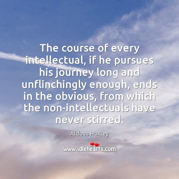 Image, The course of every intellectual, if he pursues his journey long and