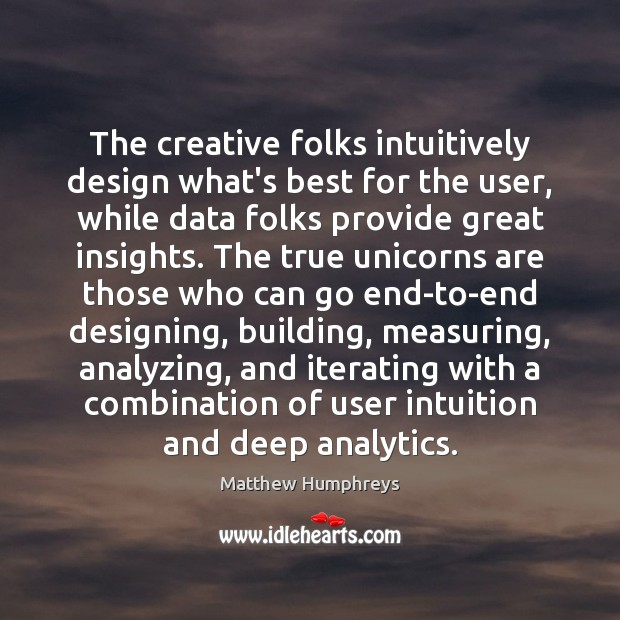 Image, The creative folks intuitively design what's best for the user, while data