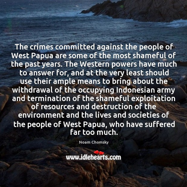 The crimes committed against the people of West Papua are some of Image
