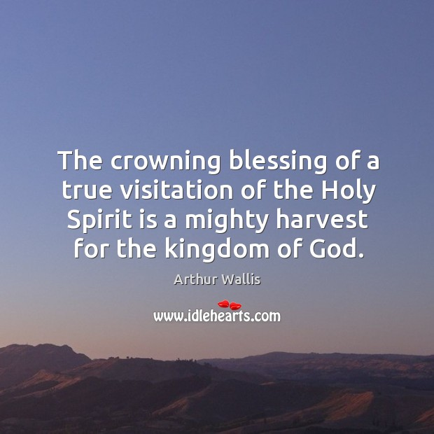 Image, The crowning blessing of a true visitation of the Holy Spirit is