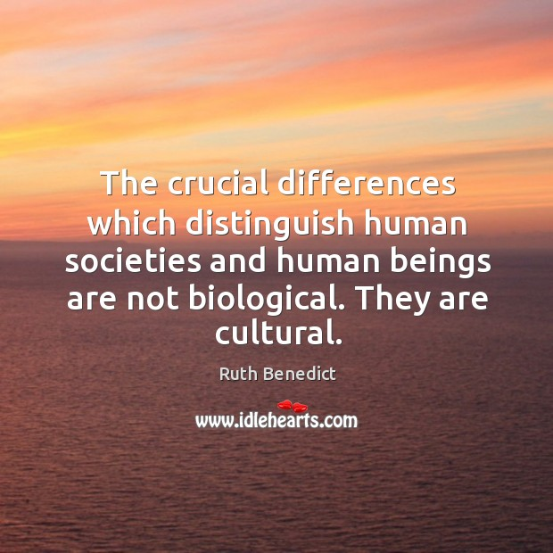 The crucial differences which distinguish human societies and human beings are not Image