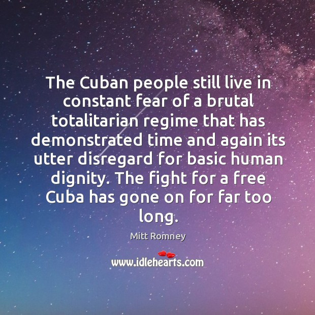 cuba and the totalitarian regime that still goes on
