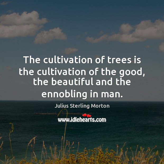 The cultivation of trees is the cultivation of the good, the beautiful Image