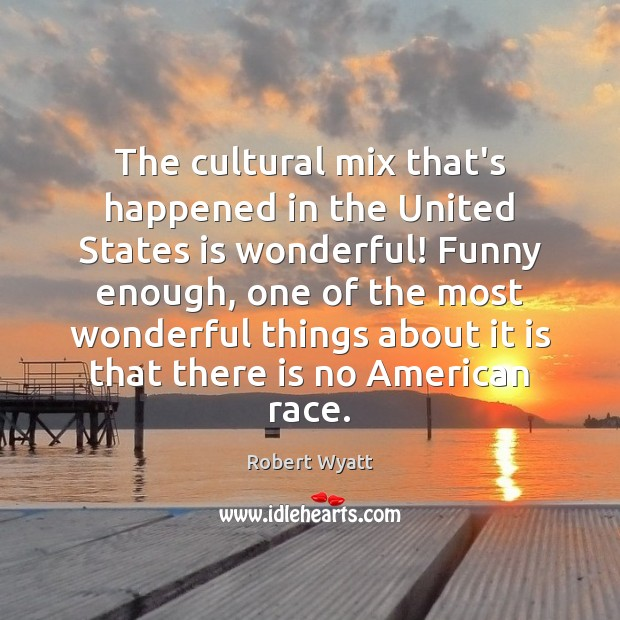 The cultural mix that's happened in the United States is wonderful! Funny Image