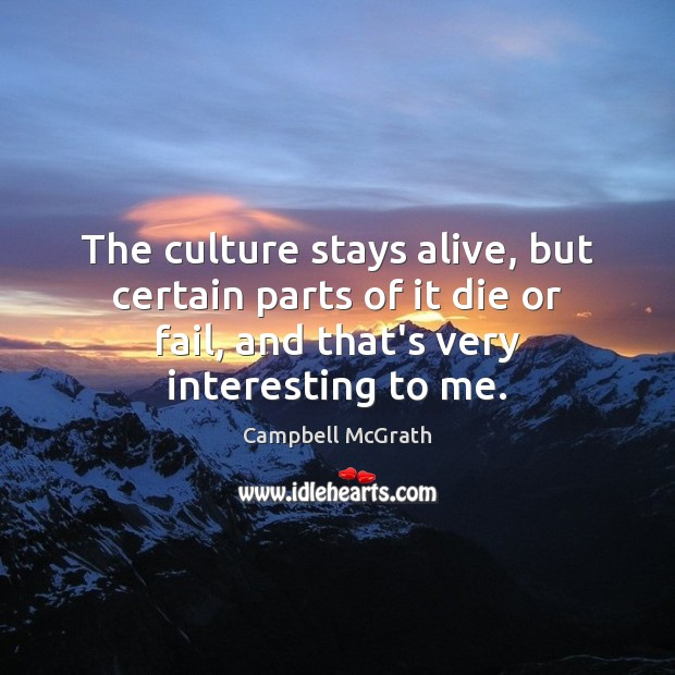 Image, The culture stays alive, but certain parts of it die or fail,