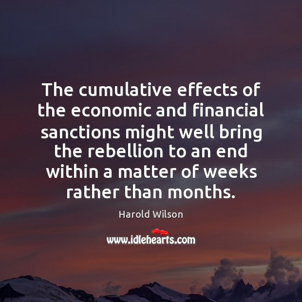 Image, The cumulative effects of the economic and financial sanctions might well bring