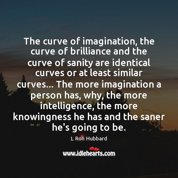 The curve of imagination, the curve of brilliance and the curve of Image