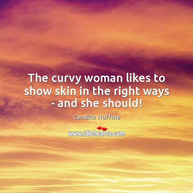 Image, The curvy woman likes to show skin in the right ways – and she should!