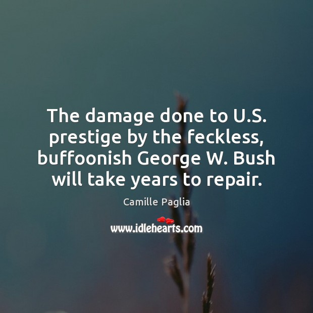Image, The damage done to U.S. prestige by the feckless, buffoonish George