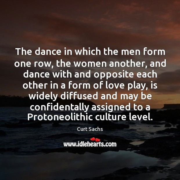 Image, The dance in which the men form one row, the women another,