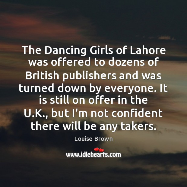 The Dancing Girls of Lahore was offered to dozens of British publishers Image