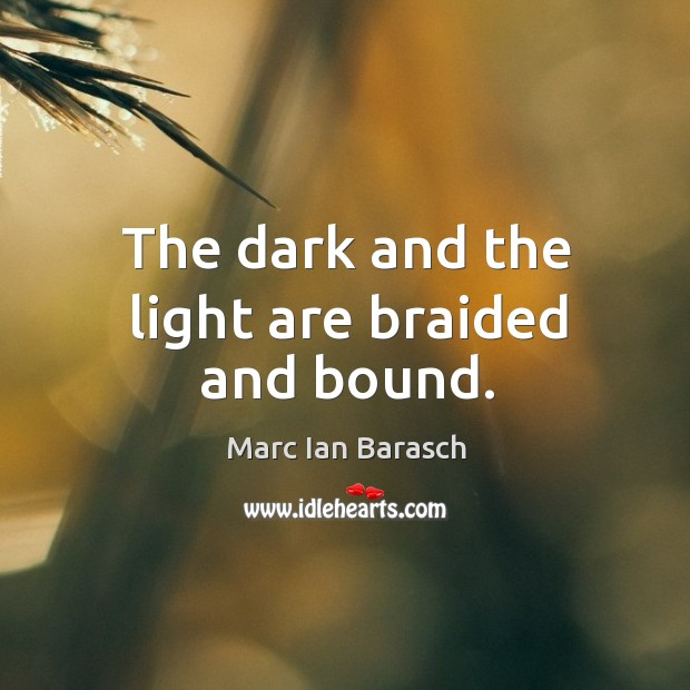 The dark and the light are braided and bound. Image