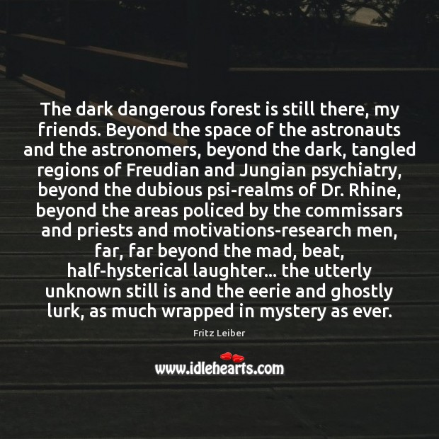 Image, The dark dangerous forest is still there, my friends. Beyond the space