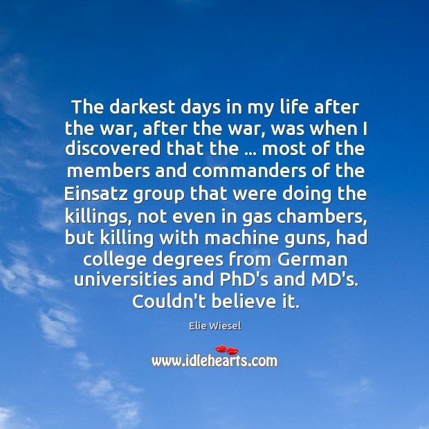 The darkest days in my life after the war, after the war, Image