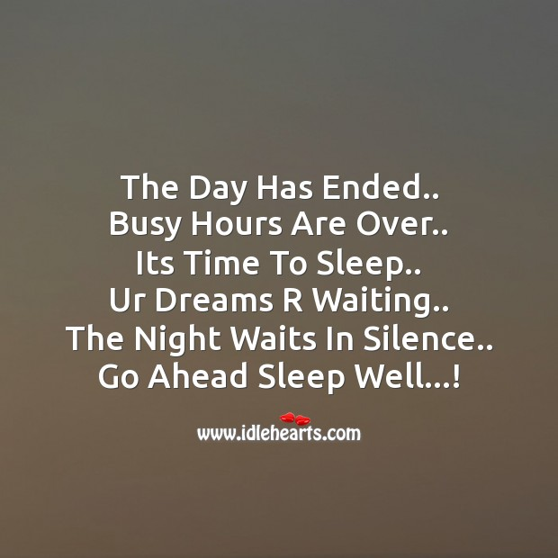 Image, The day has ended..