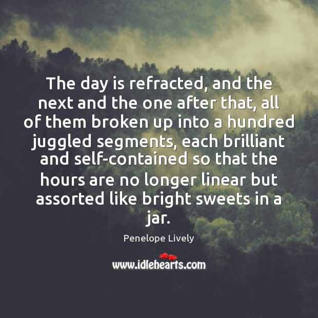 Image, The day is refracted, and the next and the one after that,