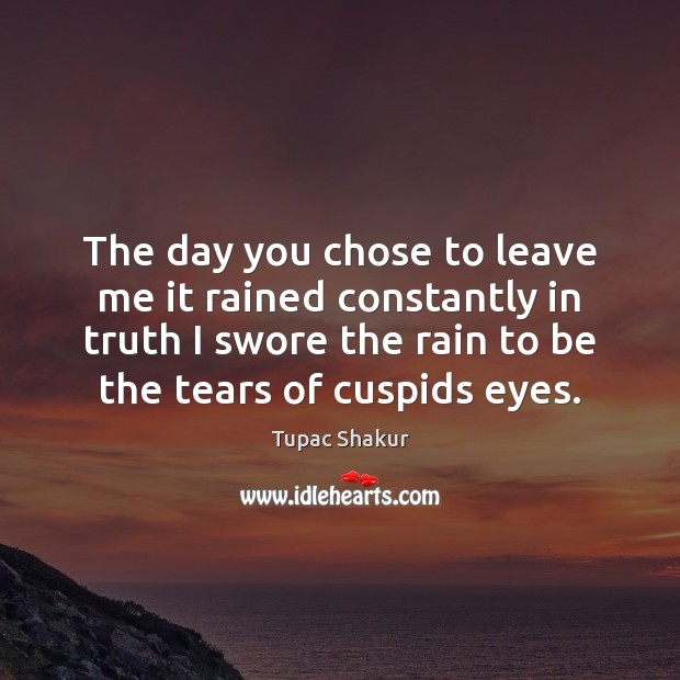 The day you chose to leave me it rained constantly in truth Image