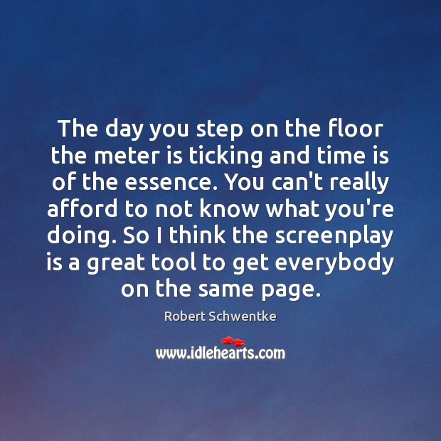 The day you step on the floor the meter is ticking and Image