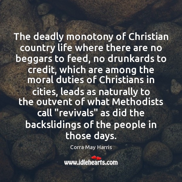 Image, The deadly monotony of Christian country life where there are no beggars