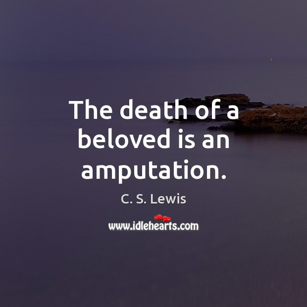 Image, The death of a beloved is an amputation.