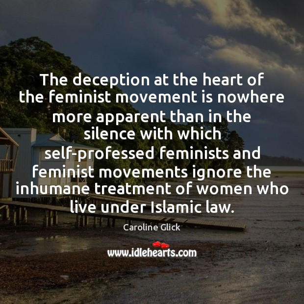 The deception at the heart of the feminist movement is nowhere more Image