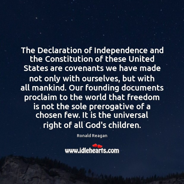 Image, The Declaration of Independence and the Constitution of these United States are