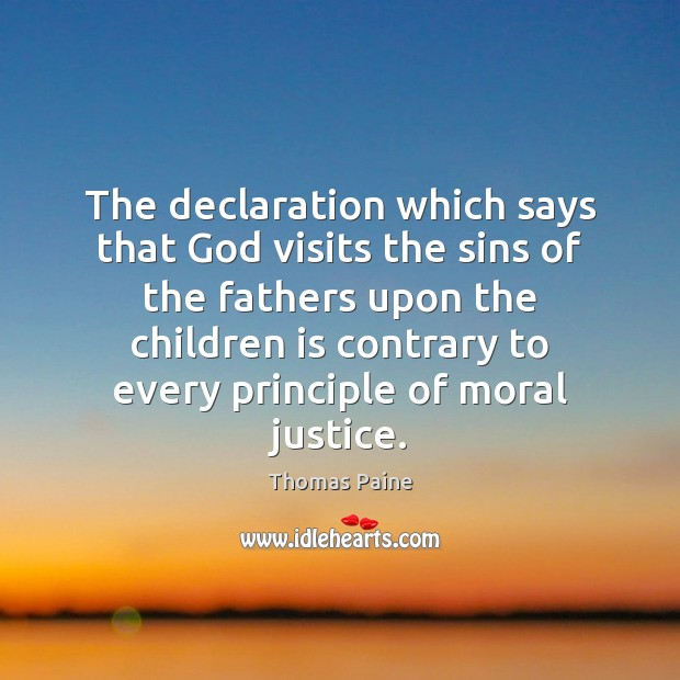 Image, The declaration which says that God visits the sins of the fathers