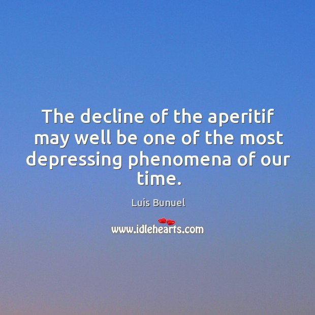 The decline of the aperitif may well be one of the most depressing phenomena of our time. Image