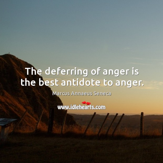 Image, The deferring of anger is the best antidote to anger.
