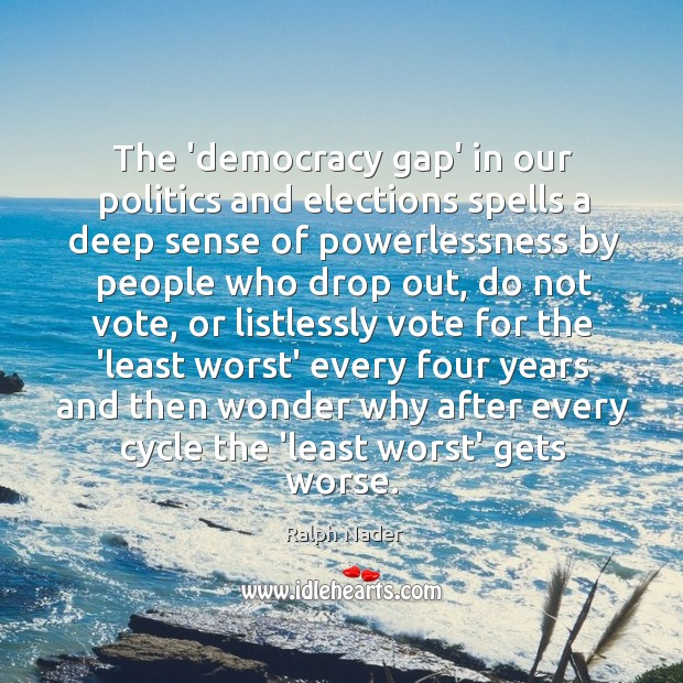 Image, The 'democracy gap' in our politics and elections spells a deep sense