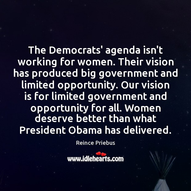 The Democrats' agenda isn't working for women. Their vision has produced big Image
