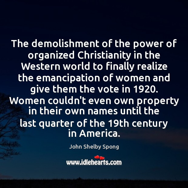 Image, The demolishment of the power of organized Christianity in the Western world