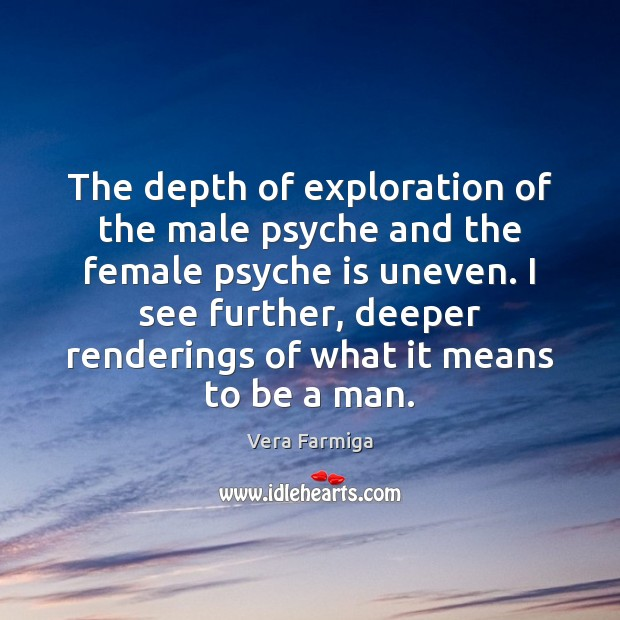The depth of exploration of the male psyche and the female psyche Image