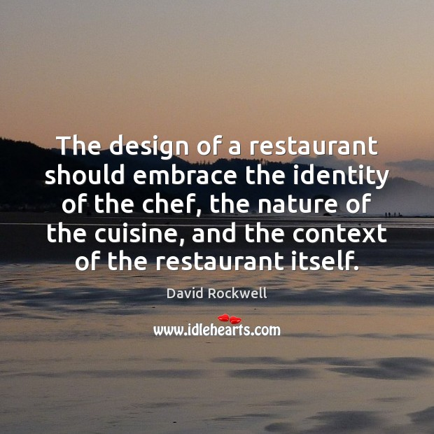 The design of a restaurant should embrace the identity of the chef, Image