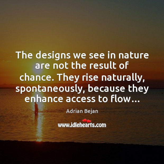 Image, The designs we see in nature are not the result of chance.