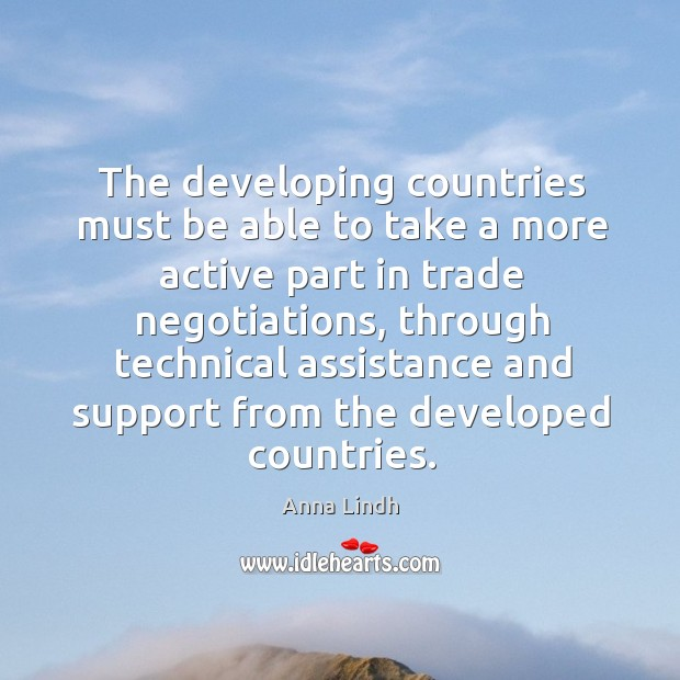 Image, The developing countries must be able to take a more active part in trade negotiations