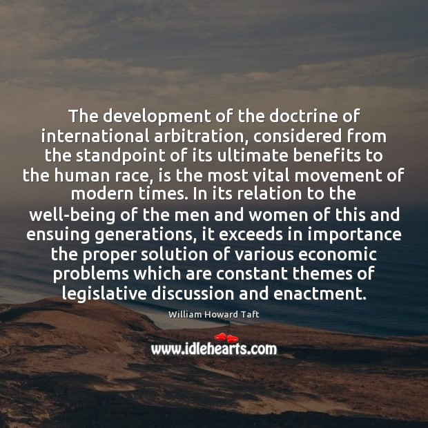 Image, The development of the doctrine of international arbitration, considered from the standpoint