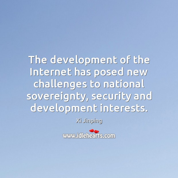 The development of the Internet has posed new challenges to national sovereignty, Image
