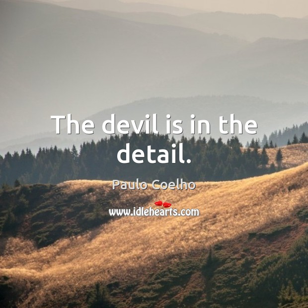 Image, The devil is in the detail.