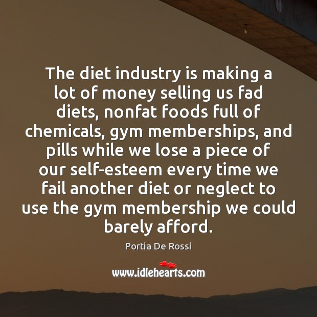 The diet industry is making a lot of money selling us fad Image
