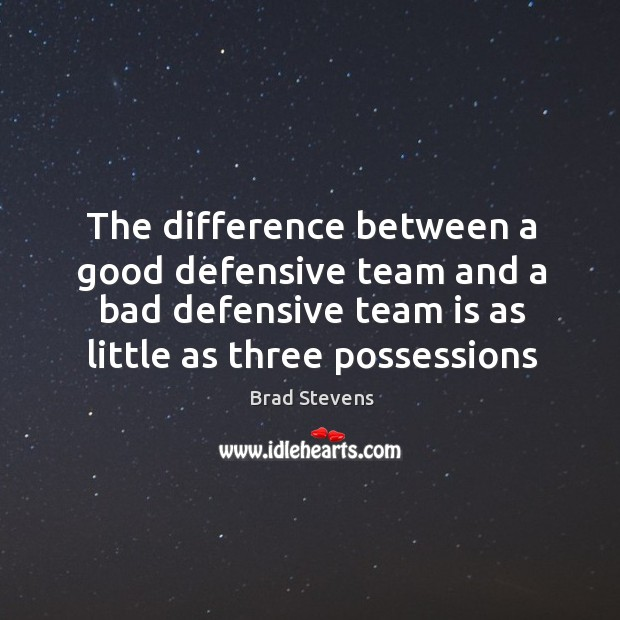 Image, The difference between a good defensive team and a bad defensive team
