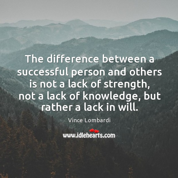 Image, The difference between a successful person and others is not a lack of strength