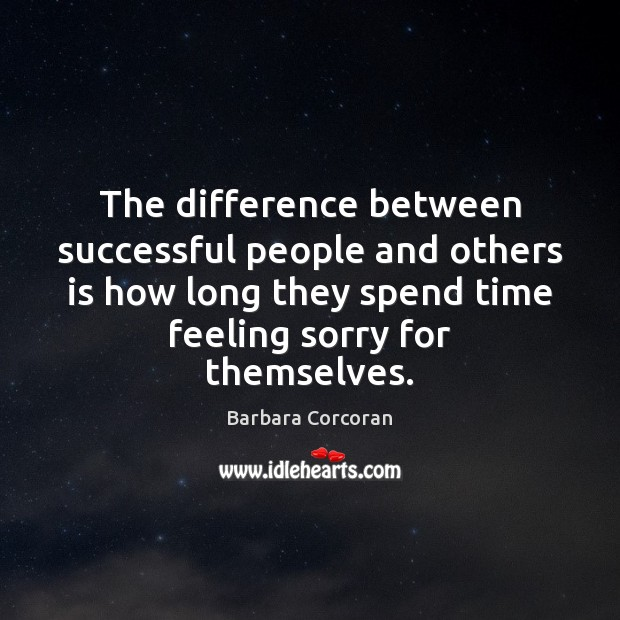 The difference between successful people and others is how long they spend Image