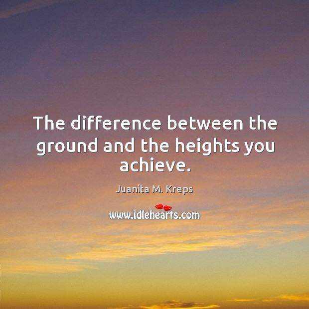 The difference between the ground and the heights you achieve. Image