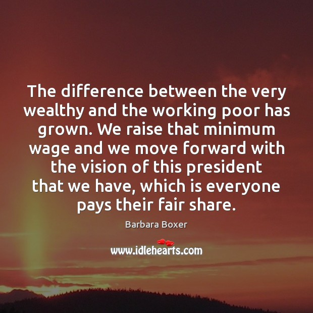 Image, The difference between the very wealthy and the working poor has grown.