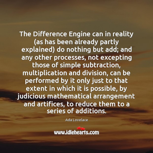 Image, The Difference Engine can in reality (as has been already partly explained)