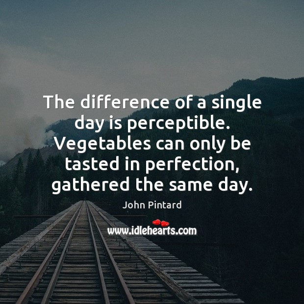The difference of a single day is perceptible. Vegetables can only be Image