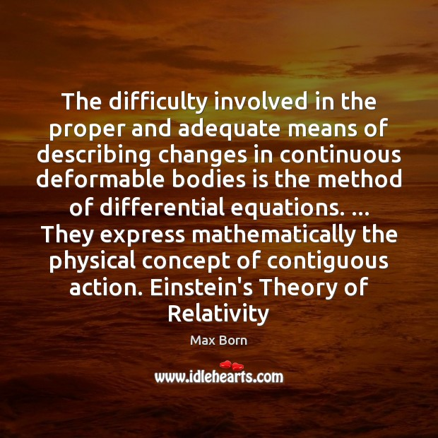 Image, The difficulty involved in the proper and adequate means of describing changes