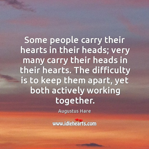 The difficulty is to keep them apart, yet both actively working together. Image