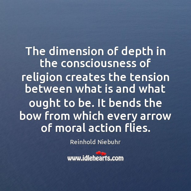 Image, The dimension of depth in the consciousness of religion creates the tension